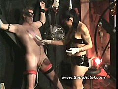 Tube8 Movie:Teasing the slaves cock