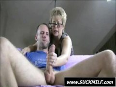 See: Blonde MILF give this ...
