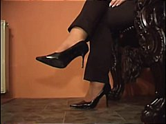Foot Worship Tan nylons video