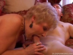 mature, cougar, blowjob, stockings, cock