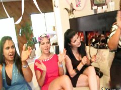 Wild horny drunk chicks craving cock