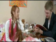 Young redheaded Asian ... video