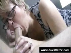 daughter, job, pov, young, blonde, handjob, stroking, cums, milf, older, threesome, blowjob, granny