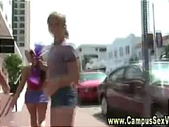 Horny college teen girls video