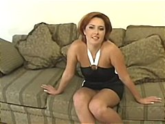Redhead Daria Glover in a hot threesome where she sucks and gets drilled