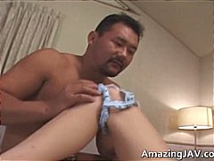 Hot Japanese babe suck...