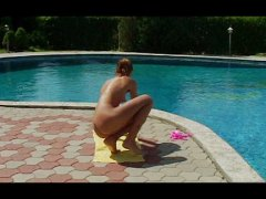 Redtube - Girl by the pool enjoy...