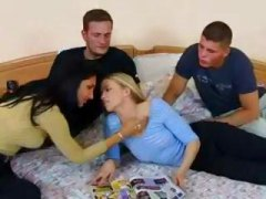 Hot foursome sex with ...