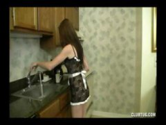 handjob, milf, dick, brunette, kitchen, guy, teen, jizz, pov,
