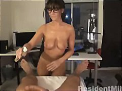 Busty milf gives massa... video