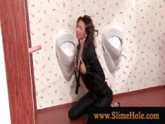 DrTuber Movie:Gloryhole slut rubbing herself...
