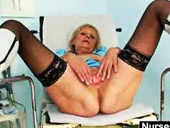 Thumb: Blonde granny nurse se...
