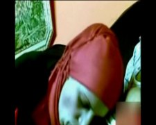 arab girl with red hij... video