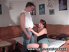 homemade, blow-job, red head, facial,