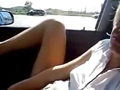 masturbation, masturbating, public nudity, public, amateur, car, wife,
