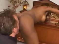 Rimming his black slut and fucking her butt