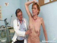lady, old, examination, gyno, close up, mature, clinic, pussy, older