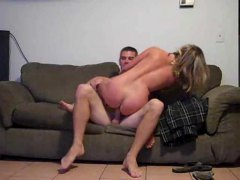 amateur, couple, couch,