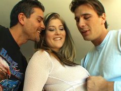 double penetration, group, dripping