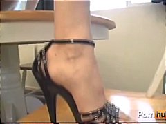 See: Petite brunette lays o...