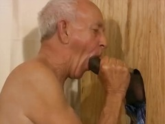 mature, sucking cock, interracial, daddy