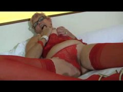 Thumb: Granny Wears Red Lingerie