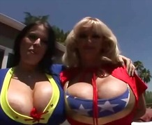 oral, busty, sex, threesome, hardcore