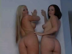 hot, rimjob, asslick, brunette, blonde