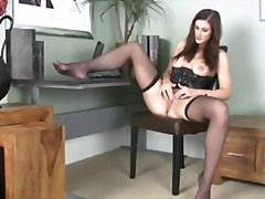 solo, shaved-pussy, office
