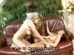 Nuvid Movie:Lesbian duo and then trio lick...