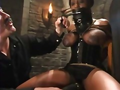 Busty ebony gets tied up and tortured...