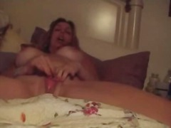 mom, huge tits, mature, real, webcam, natural boobs, masturbating, horny, chubby