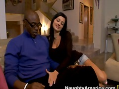 milf, brunette, interracial,