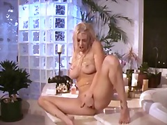 Wet babe sits by the b... - Alpha Porno