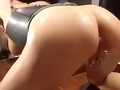 wet, anal, close up, bathroom, latex,