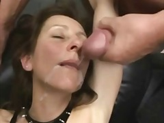 A first in this old slut's pussy in not enough for her - she needs a cock too