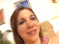 cumshot, bikini, close up, facial