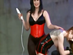 Lezdom Spank Toy And Electroplay In L...