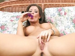 masturbating, brunette, big tits,