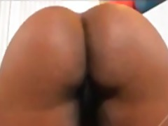 Black BBW sits on his face and rubs a...