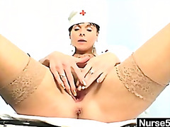 fetish, mature, pussy, old, amateur, lady, nurse, bizarre, milf, stockings, mom, kinky, dildo, masturbation, uniform, speculum