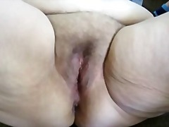 Tube8 - hot BBW wife playing with pussy hubby cum running out