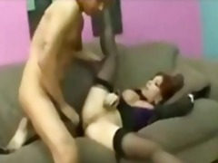Big tit asian gets a big cock