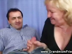Tube8 - Granny give double blowjob