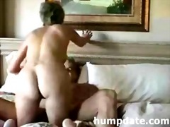 Sexy MILF rides on cock and gets defaced