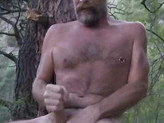 mature, older, bear, outdoors, hairy