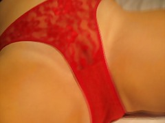 Want My Red Cotton and Lace Used Panties