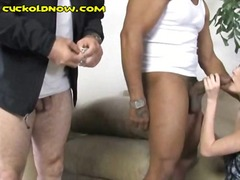 big cock, threesome, interracial,