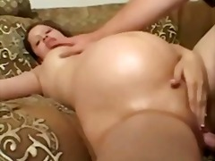 Pregnant lady being banged by behind