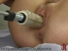 machine, masturbate, blonde,